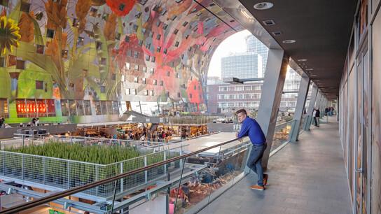 Markthal, Rotterdam, the Netherlands, MVRDV, Pennings Akoestiek, ROCKFON Mono Acoustic, Dark grey