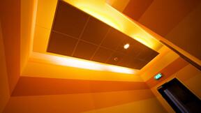 Rabobank, Heinenoord, The Netherlands, Rockfon Color-all, A-edge, 600x600